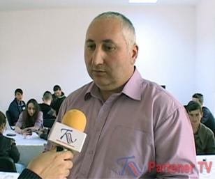 prof. drd. Ionuţ Iurea, directorul Liceului Tehnologic Voineşti