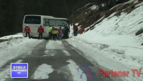 autocar in munte