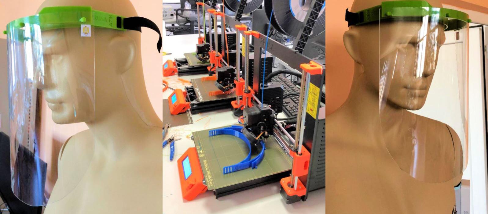 O echipa, formată din cadre didactice, cercetători şi ofiţeri specialişti din cadrul Centrului de Excelenţă în Robotică şi Sisteme Autonome al Academiei Tehnice Militare a modificat şi adaptat un model de vizieră de protecţie, care poate fi realizat prin imprimare 3D.